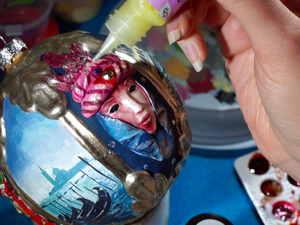 Painting Christmas Ball in Venice Style. Livemaster - handmade