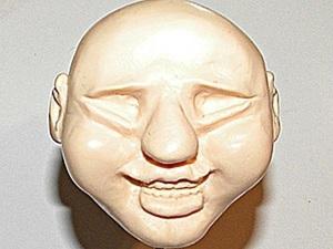 Делаем голову куклы с широкой улыбкой. Ярмарка Мастеров - ручная работа, handmade.