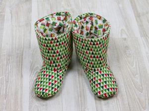 Шьем тёплые сапожки-тапки для дома. Ярмарка Мастеров - ручная работа, handmade.