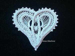 МК: Валентинка в технике румынского кружева. Ярмарка Мастеров - ручная работа, handmade.