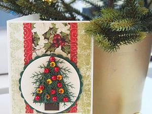 Мастер-класс: создаем новогоднюю открытку. Ярмарка Мастеров - ручная работа, handmade.
