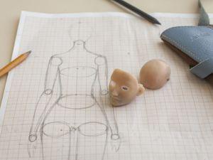 Процесс работы над пропорциями тела дл куклы. Создание каркаса из фольги. Ярмарка Мастеров - ручная работа, handmade.