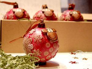 Декорируем елочную игрушку «Барашка-Ромашка» в технике объемного декупажа. Ярмарка Мастеров - ручная работа, handmade.