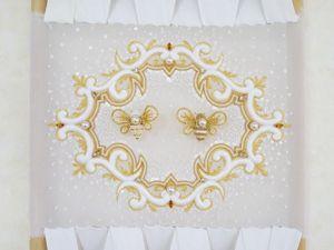Вышивка интерьерного панно от Kataoka Aya. Ярмарка Мастеров - ручная работа, handmade.