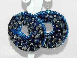 Создаем круглые серьги «Джинсовое море». Ярмарка Мастеров - ручная работа, handmade.