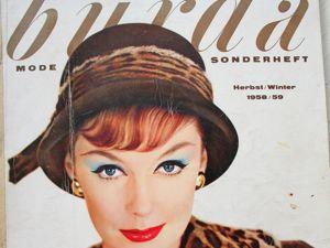 Burda -спец. выпуск — Осень — Зима 1958/59. Ярмарка Мастеров - ручная работа, handmade.
