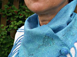 Изящный шарфик с бахромой. Ярмарка Мастеров - ручная работа, handmade.