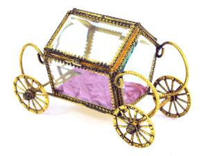 Шкатулка Хрустальная Карета Винтаж StyleBuilt New York Золотая Карета Шкатулка. Ярмарка Мастеров - ручная работа, handmade.