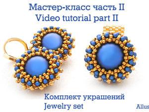 Creating Jewellry Set from Swarovski Beads, Pearls. Part 2. Livemaster - handmade
