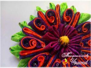 Мастерим цветок «Кислинку» из лоскутков. Ярмарка Мастеров - ручная работа, handmade.
