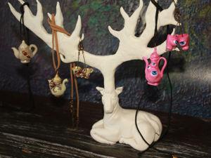 Создаем из полимерной глины подставку для украшений в виде оленя. Ярмарка Мастеров - ручная работа, handmade.