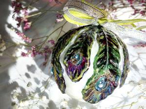 Расписываем елочный шарик витражными красками. Ярмарка Мастеров - ручная работа, handmade.