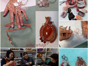 Фотоотчет о мастер-классе по технике wire wrap. Ярмарка Мастеров - ручная работа, handmade.
