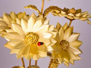 Цветок цинии. Ярмарка Мастеров - ручная работа, handmade.