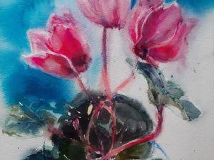 Аукцион одной акварели:  «Весна идёт!». Ярмарка Мастеров - ручная работа, handmade.