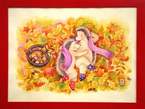 Осенние ёжики по осенней акции -20%. Ярмарка Мастеров - ручная работа, handmade.