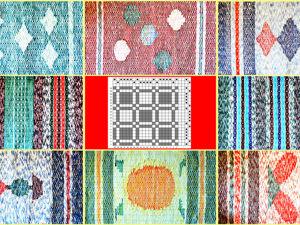 Английское полотняное переплетение (сложная рогожка). Вариант 1. Ярмарка Мастеров - ручная работа, handmade.