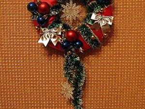Простой новогодний веночек из пенопласта своими руками. Ярмарка Мастеров - ручная работа, handmade.