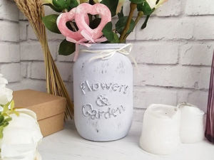 Делаем баночку-вазу с объёмной надписью. Ярмарка Мастеров - ручная работа, handmade.