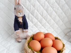 Мастерим пасхальное гнездышко для яиц. Ярмарка Мастеров - ручная работа, handmade.