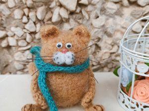 Вяжем кота крючком. Ярмарка Мастеров - ручная работа, handmade.