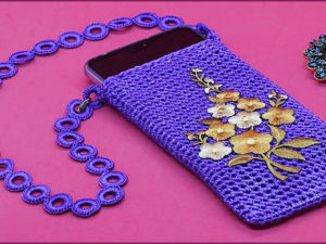 Вяжем чехол для смартфона крючком. Часть 2. Ярмарка Мастеров - ручная работа, handmade.