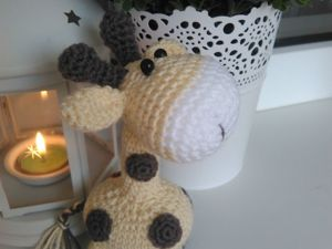 Видеоурок: вяжем крючком игрушку Жирафчик. 1 часть. Ярмарка Мастеров - ручная работа, handmade.