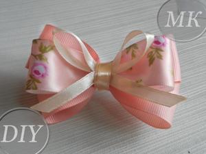 How to Make a Simple Bow of Narrow Ribbons. Livemaster - handmade