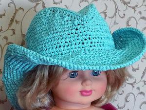 Видеоурок: вяжем ковбойскую шляпу из пряжи раффия крючком. Часть 1. Ярмарка Мастеров - ручная работа, handmade.