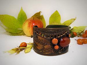 Делаем кожаный браслет «Прелюдия осени». Ярмарка Мастеров - ручная работа, handmade.