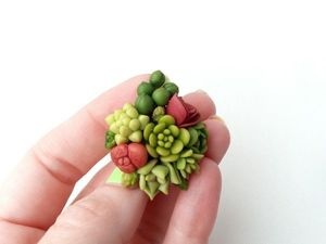 Succulents of Cold Porcelain. Part 2. Livemaster - handmade