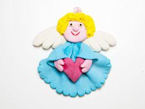 Видео мастер-класс: лепим Ангелочка из соленого теста. Ярмарка Мастеров - ручная работа, handmade.