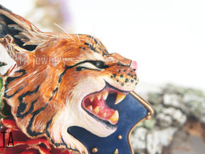 ВИДЕО. Кулон-брошь Рысь из полимерной глины, кулон тигр, кошка. Ярмарка Мастеров - ручная работа, handmade.