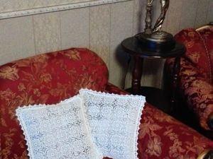 Вяжем крючком ажурную наволочку на подушку. Ярмарка Мастеров - ручная работа, handmade.