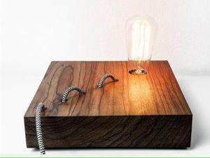 13 заманчивых деревянных светильников, на которые стоит посмотреть. Ярмарка Мастеров - ручная работа, handmade.