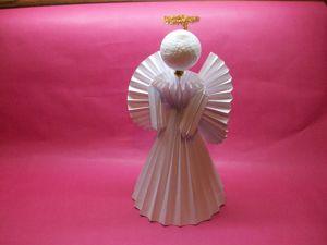Как сделать ангела из бумаги. Ярмарка Мастеров - ручная работа, handmade.