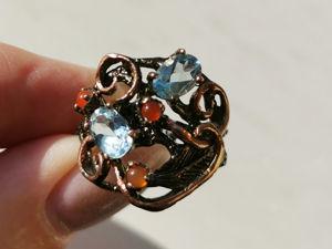 Видео кольца с топазом. Ярмарка Мастеров - ручная работа, handmade.