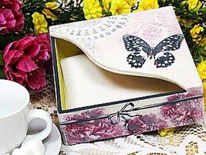 Делаем салфетницу с бабочкой. Ярмарка Мастеров - ручная работа, handmade.