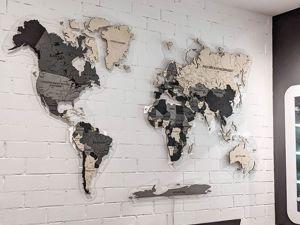 Смонтировали карту в черно-белых тонах для ювелирной студии. Ярмарка Мастеров - ручная работа, handmade.