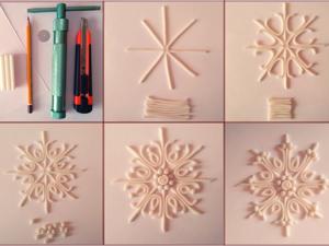 Делаем снежинку из полимерной глины. Ярмарка Мастеров - ручная работа, handmade.