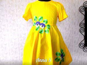 Летнее Платье для Девочки за 1110 руб! Скидка 30%. Ярмарка Мастеров - ручная работа, handmade.