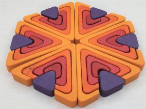 Мозаика- пазл из дерева  «Треугольники». Ярмарка Мастеров - ручная работа, handmade.