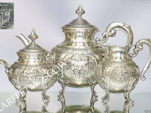 Сервиз антикварный латунь бронза серебрение 19век 14. Ярмарка Мастеров - ручная работа, handmade.