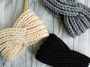 Объемные вязаные повязки -20%. Ярмарка Мастеров - ручная работа, handmade.