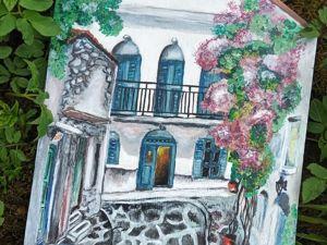 Рисуем каменную улицу в Греции. Ярмарка Мастеров - ручная работа, handmade.