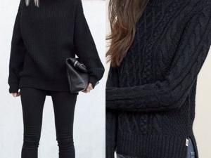 Черный свитер универсальная вещь базового гардероба. Ярмарка Мастеров - ручная работа, handmade.