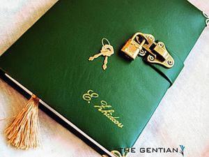 Создаем стильный датированный ежедневник в кожаной обложке. Ярмарка Мастеров - ручная работа, handmade.