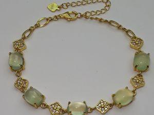 Серебряный браслет с натуральным принятом  «Apple». Ярмарка Мастеров - ручная работа, handmade.