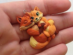 Modeling A Pendant Foxes in Love. Livemaster - handmade
