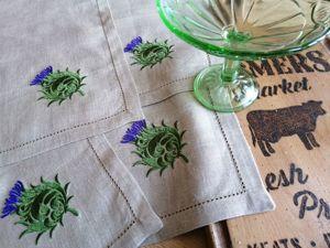 Весенняя распродажа льняных салфеток с вышивкой!. Ярмарка Мастеров - ручная работа, handmade.